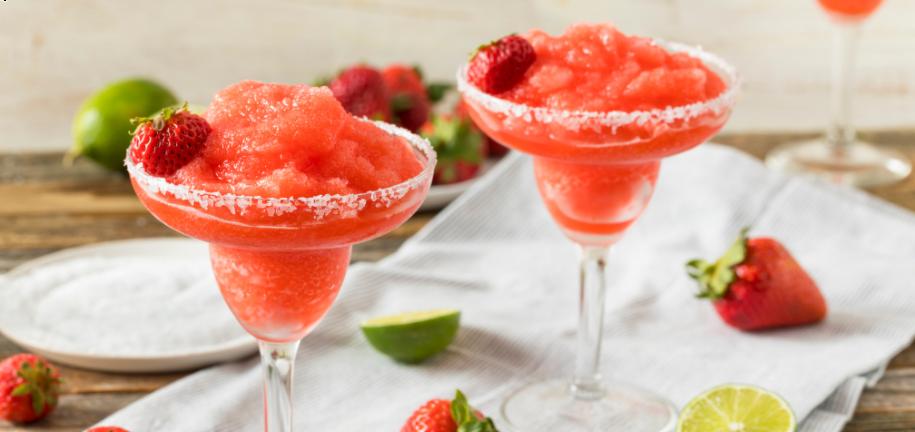 Rezept für gefrorene Erdbeer-Daiquiris