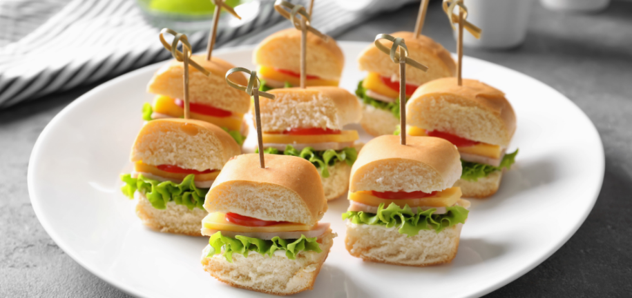 Gesunde Mini-Picknick-Sandwiches